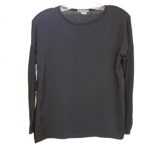 Vince Black Wool Blend Scoop Neck Sweater Top